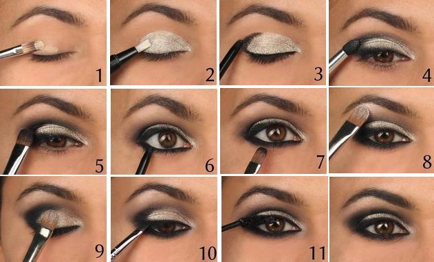 Как сделать красивый макияж в домашних условиях пошаговое на свадьбу 19