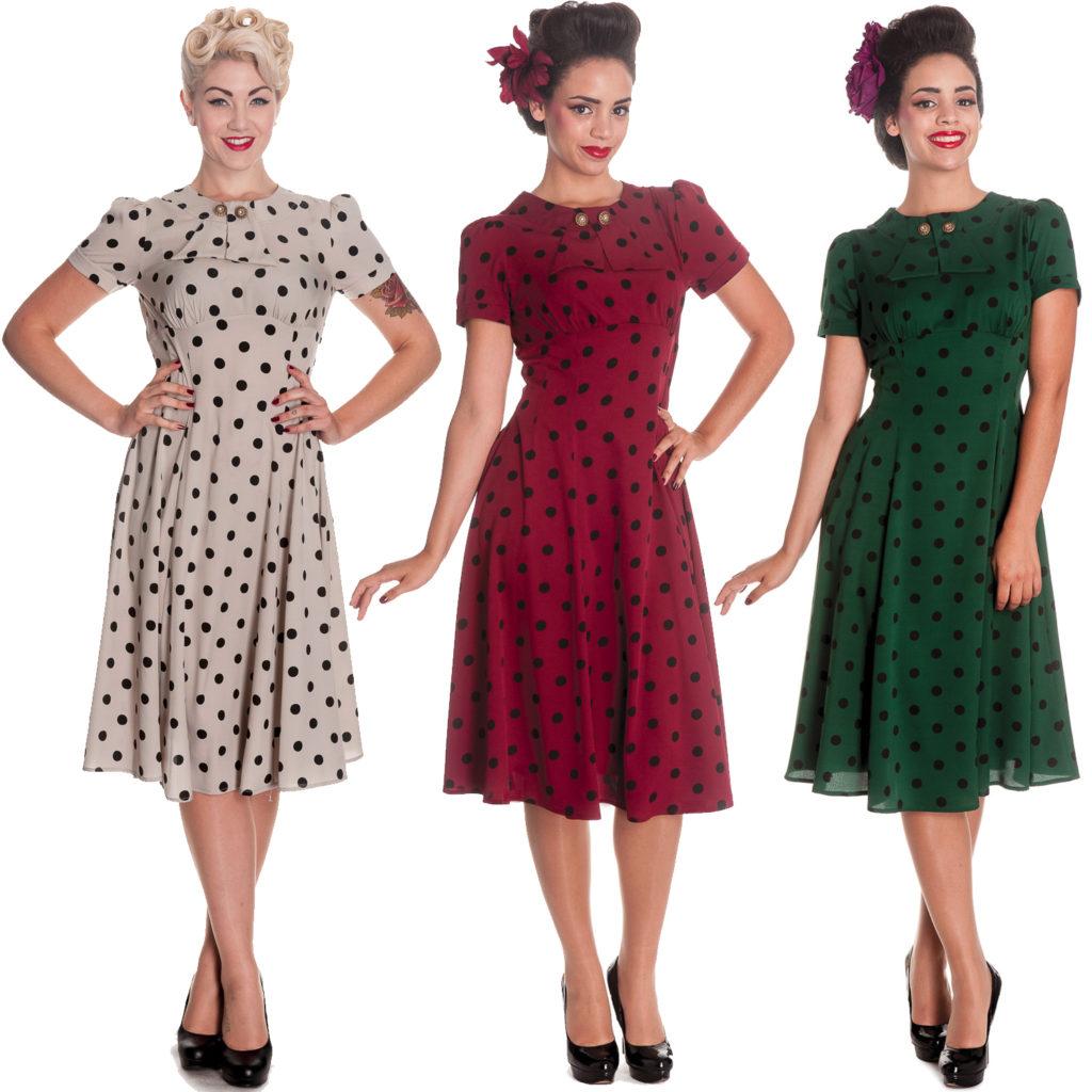 Платья стиля 40-х