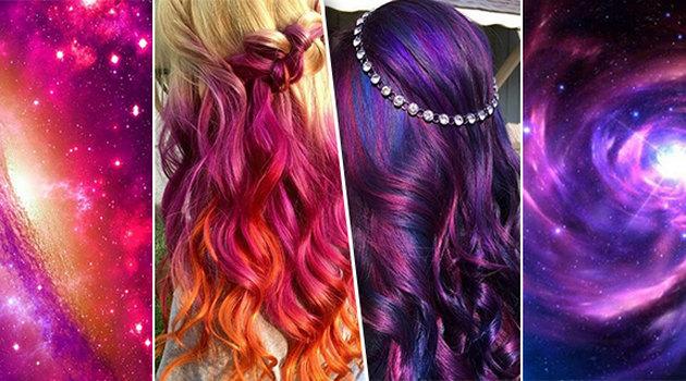 Ультрафиолетовый цвет локонов